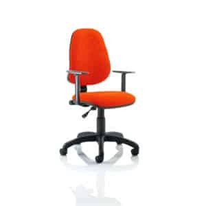 Eclipse I Lever Task Operator Chair Bespoke With Height Adjustable Arms In Tabasco Red