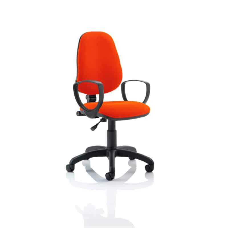 Eclipse I Lever Task Operator Chair Bespoke With Loop Arms In Tabasco Red