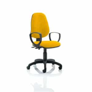 Eclipse II Lever Task Operator Chair Bespoke With Loop Arms In Senna Yellow