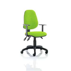 Eclipse III Lever Task Operator Chair Bespoke With Height Adjustable Arms In Myrhh Green