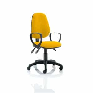 Eclipse III Lever Task Operator Chair Bespoke With Loop Arms In Senna Yellow