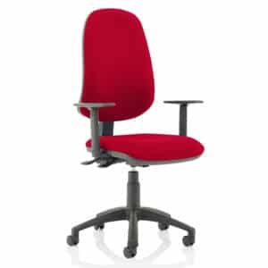 Eclipse XL Lever Task Operator Chair Bespoke With Height Adjustable Arms In Bergamot Cherry