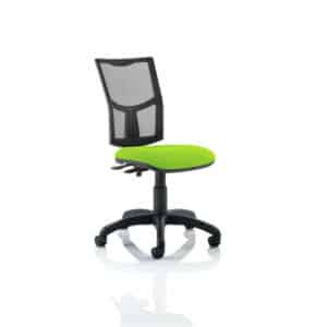 Eclipse II Lever Task Operator Chair Mesh Back With Bespoke Colour Seat in Myrhh Green