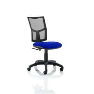 Eclipse II Lever Task Operator Chair Mesh Back With Bespoke Colour Seat in Stevia Blue