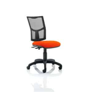 Eclipse II Lever Task Operator Chair Mesh Back With Bespoke Colour Seat in Tabasco Red