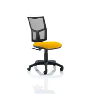 Eclipse II Lever Task Operator Chair Mesh Back With Bespoke Colour Seat in Senna Yellow