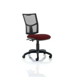 Eclipse II Lever Task Operator Chair Mesh Back With Bespoke Colour Seat in Gingseng Chilli