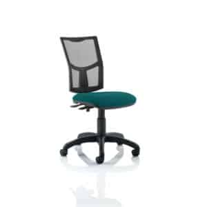 Eclipse II Lever Task Operator Chair Mesh Back With Bespoke Colour Seat in Maringa Teal