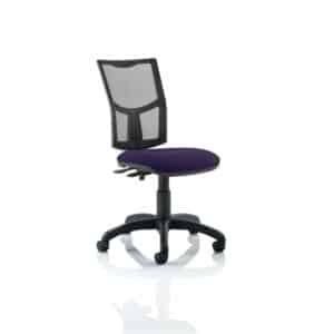 Eclipse II Lever Task Operator Chair Mesh Back With Bespoke Colour Seat in Tansy Purple