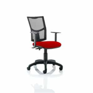Eclipse II Lever Task Operator Chair Mesh Back With Bespoke Colour Seat in Bergamot Cherry With Height Adjustable Arms