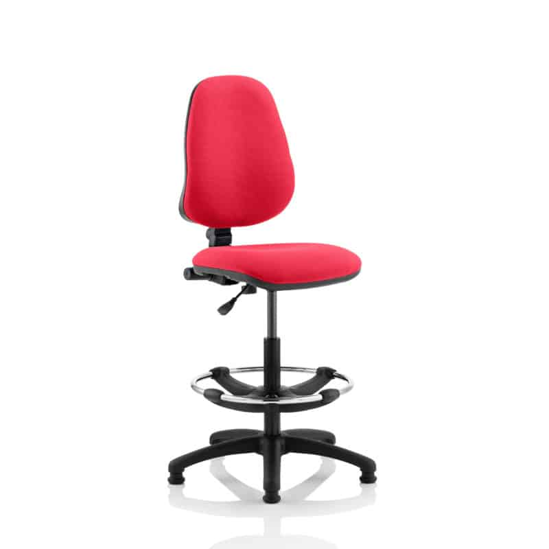 Eclipse I Lever Task Operator Chair Bergamot Cherry Fully Bespoke Colour With Hi Rise Draughtsman Kit
