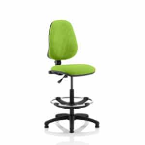 Eclipse I Lever Task Operator Chair Myrhh Green Fully Bespoke Colour With Hi Rise Draughtsman Kit