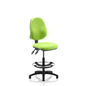Eclipse II Lever Task Operator Chair Myrhh Green Fully Bespoke Colour With Hi Rise Draughtsman Kit