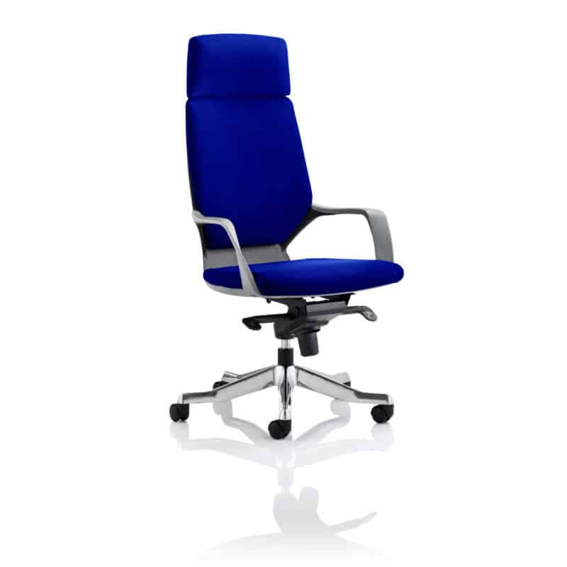 Xenon Executive Black Shell High Back With Headrest Fully Bespoke Colour Stevia Blue