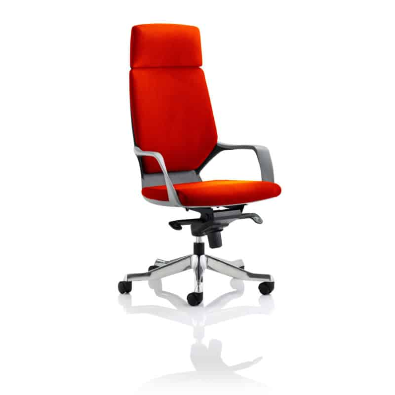 Xenon Executive Black Shell High Back With Headrest Fully Bespoke Colour Tabasco Red
