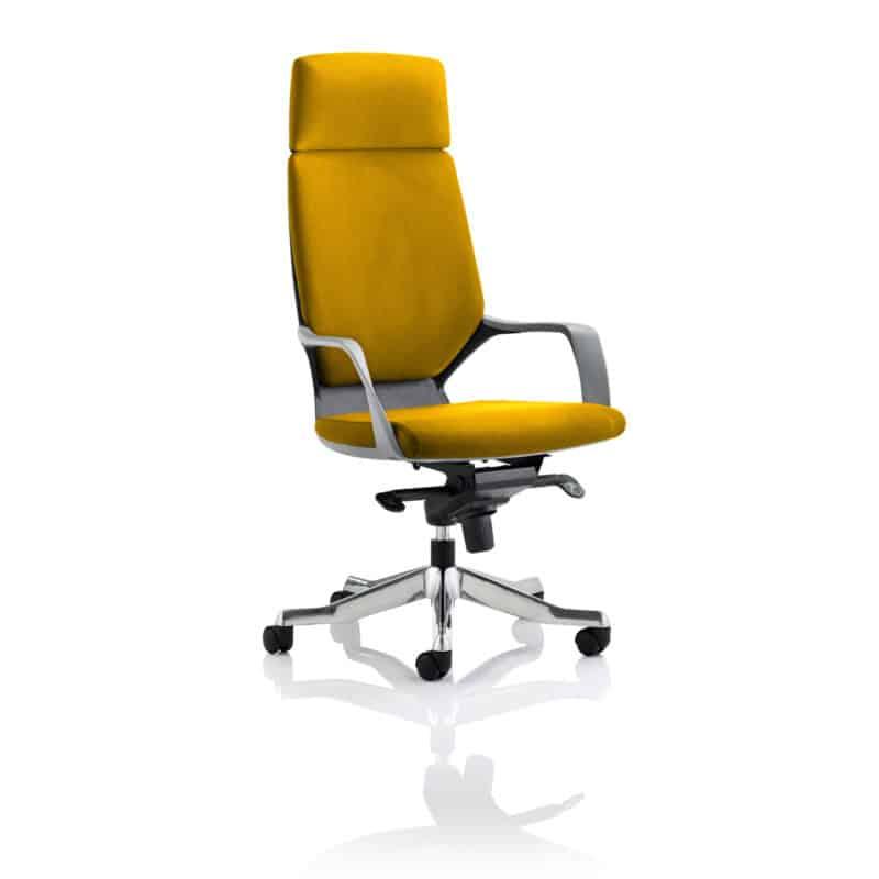 Xenon Executive Black Shell High Back With Headrest Fully Bespoke Colour Senna Yellow