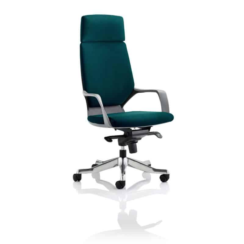 Xenon Executive Black Shell High Back With Headrest Fully Bespoke Colour Maringa Teal