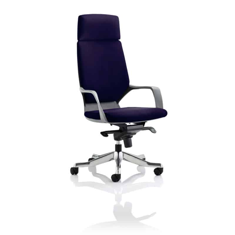 Xenon Executive Black Shell High Back With Headrest Fully Bespoke Colour Tansy Purple