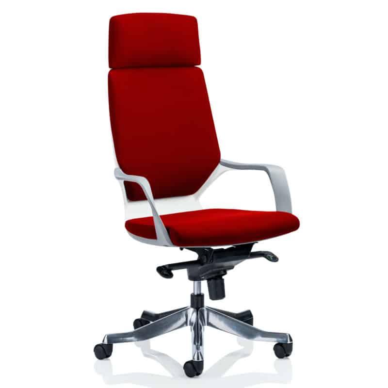 Xenon Executive White Shell High Back With Headrest Fully Bespoke Colour Bergamot Cherry