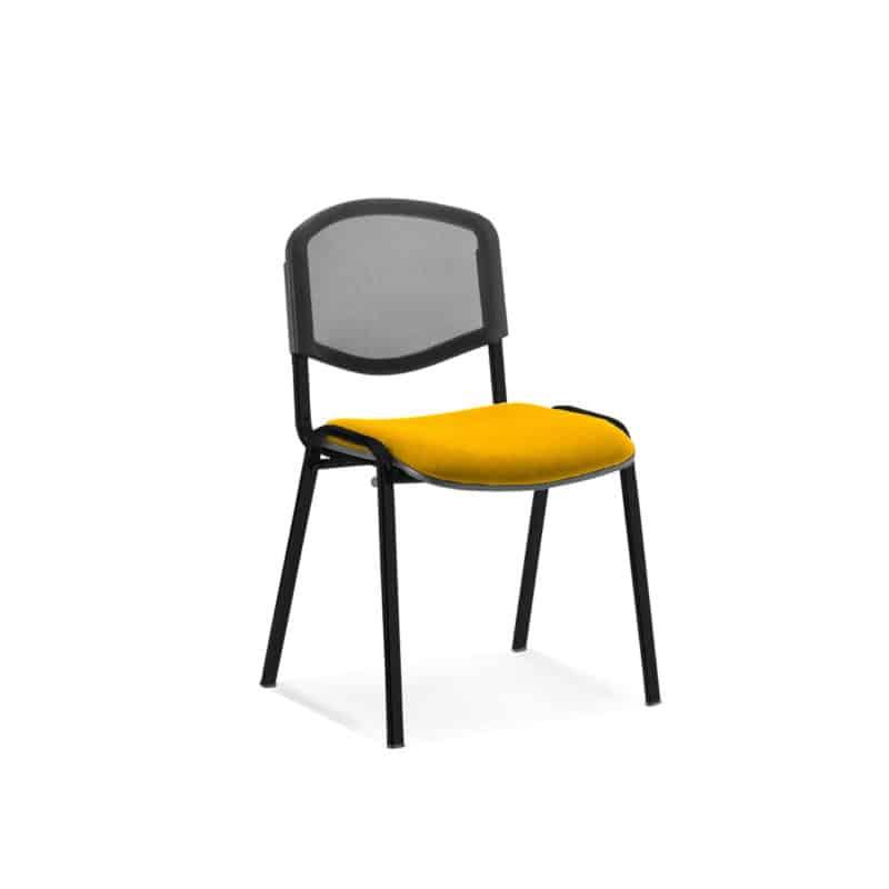 ISO Black Frame Mesh Back Bespoke Colour Fabric - (Min Order Qty X 4) Senna Yellow