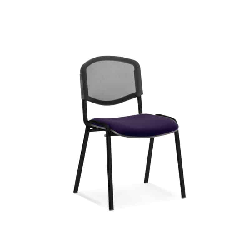 ISO Black Frame Mesh Back Bespoke Colour Fabric - (Min Order Qty X 4) Tansy Purple