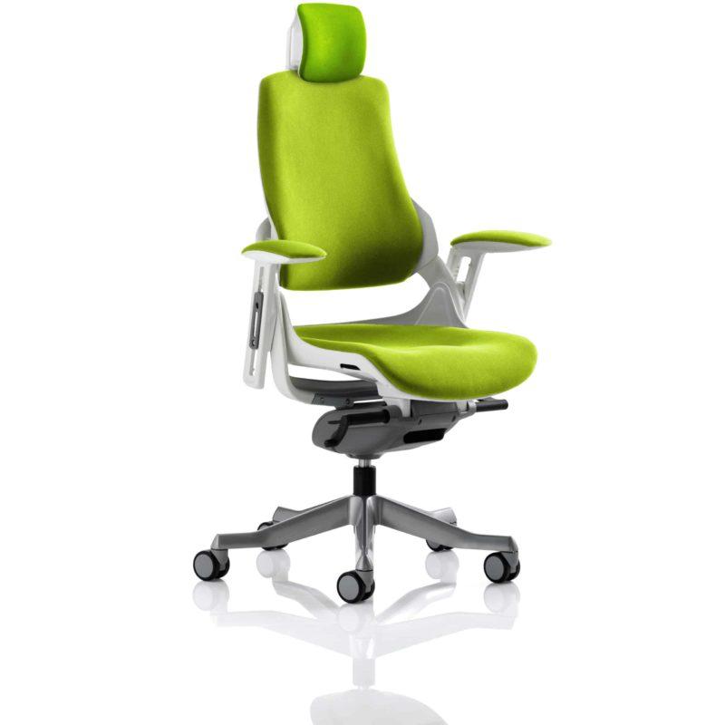 Zure With Headrest Fully Bespoke Colour Myrrh Green