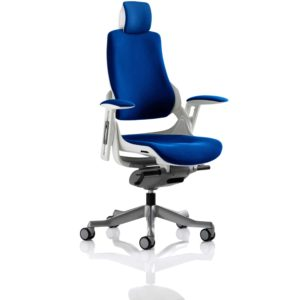 Zure With Headrest Fully Bespoke Colour Stevia Blue