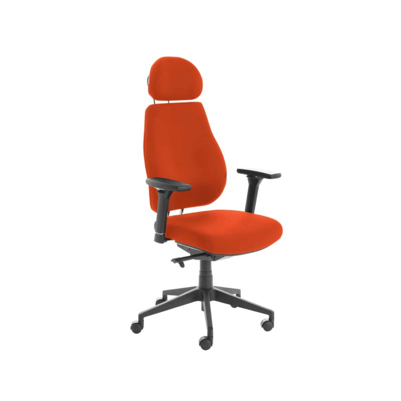 Chiro Plus Lite With Headrest Fully Upholstered Tabasco Red