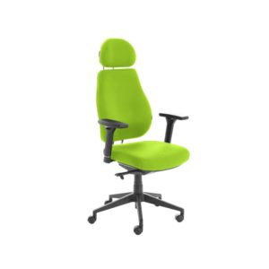 Chiro Plus Lite With Headrest Fully Upholstered Myrrh Green