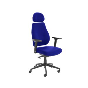 Chiro Plus Lite With Headrest Fully Upholstered Stevia Blue