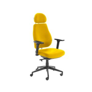 Chiro Plus Lite With Headrest Fully Upholstered Senna Yellow