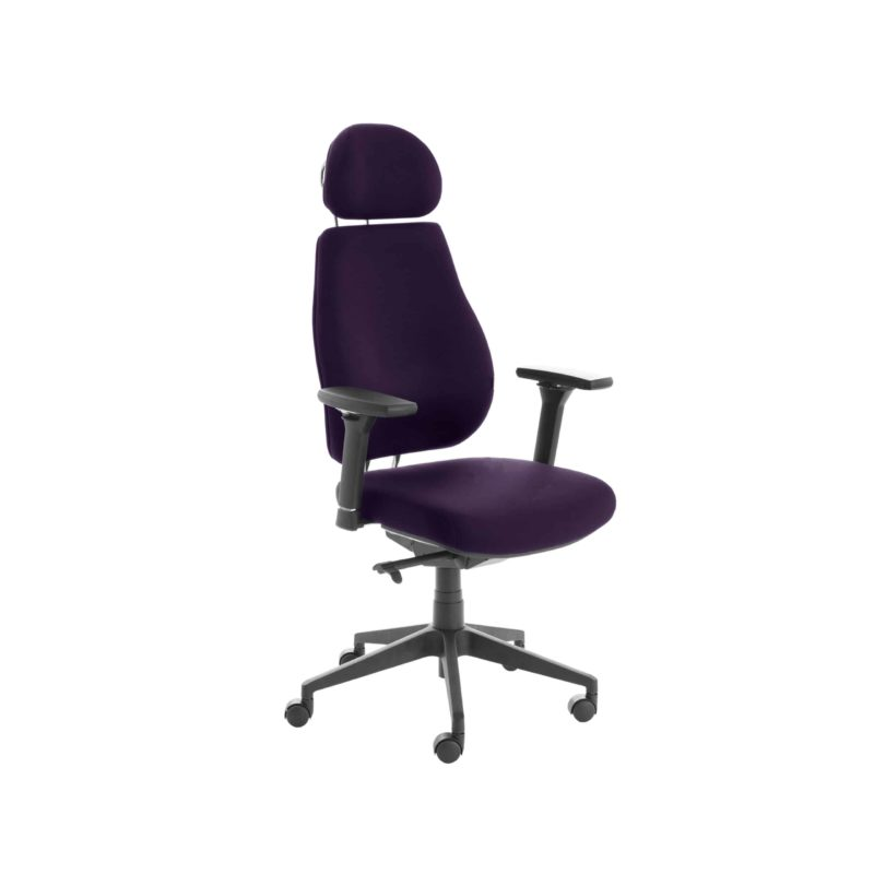 Chiro Plus Lite With Headrest Fully Upholstered Tansy Purple