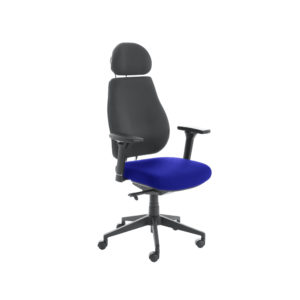 Chiro Plus Lite With Headrest Upholstered Seat Only Stevia Blue