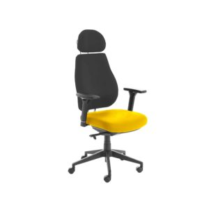 Chiro Plus Lite With Headrest Upholstered Seat Only Senna Yellow