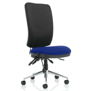 Chiro High Back Bespoke Colour Seat Stevia Blue No Arms
