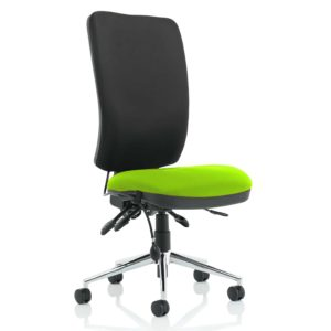 Chiro High Back Bespoke Colour Seat Myrhh Green No Arms