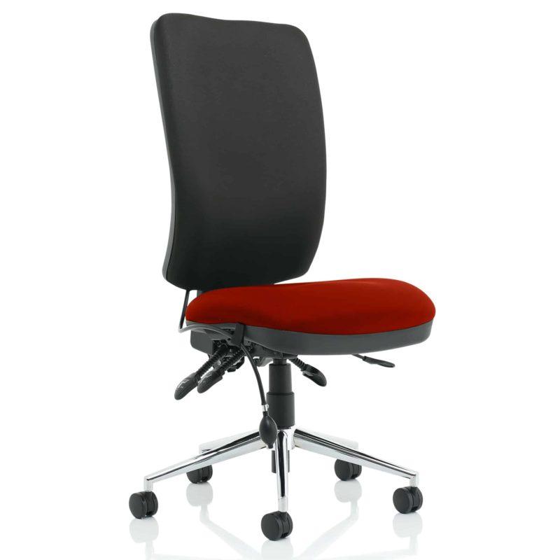 Chiro High Back Bespoke Colour Seat Gingseng Chilli No Arms