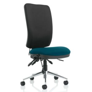 Chiro High Back Bespoke Colour Seat Maringa Teal No Arms