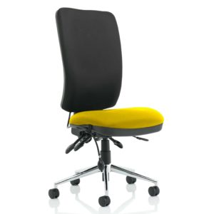 Chiro High Back Bespoke Colour Seat Senna Yellow No Arms