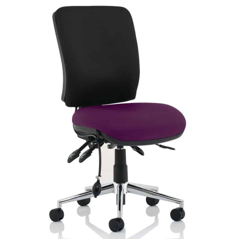 Chiro Medium Back Bespoke Colour Seat Tansy Purple No Arms