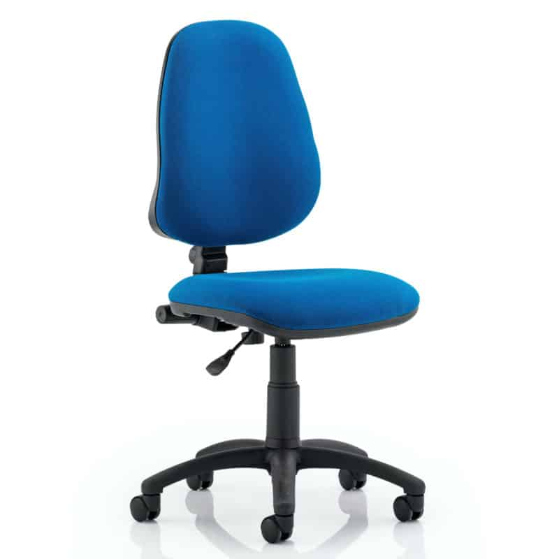 Eclipse I Lever Task Operator Chair Blue Without Arms
