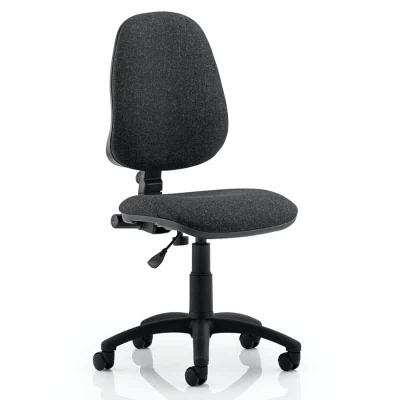 Eclipse I Lever Task Operator Chair Charcoal Without Arms