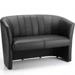 Neo Twin Tub Black Leather
