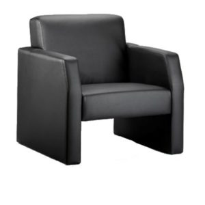 Oracle Single Break Out And Reception Chair Black Leather