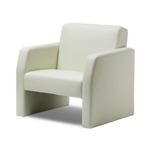 Oracle Single Break Out And Reception Chair Ivory Leather