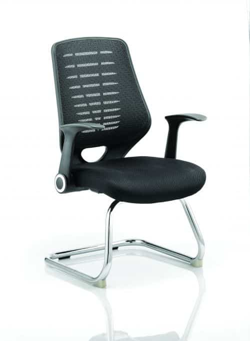 Relay Cantilever Airmesh Seat Black Back With Arms