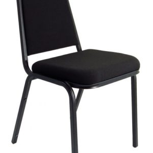 Banqueting Stacking Visitor Chair Black Frame Black Fabric