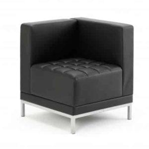 Infinity Modular Corner Unit Sofa Chair Black Bonded Leather