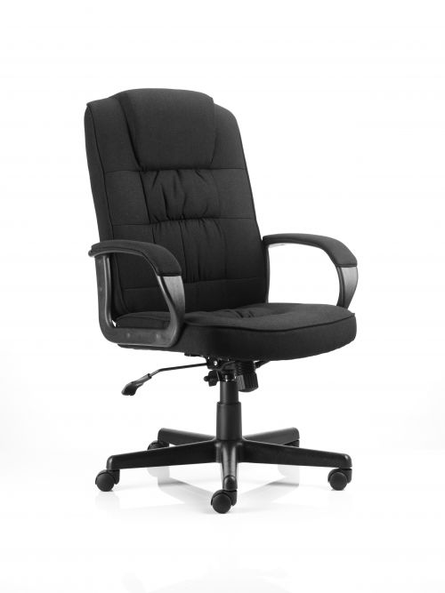 Moore Executive Chair Black Fabric With Arms
