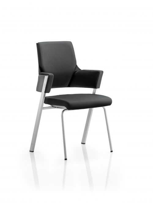 Enterprise Visitor Chair Black Fabric With Arms